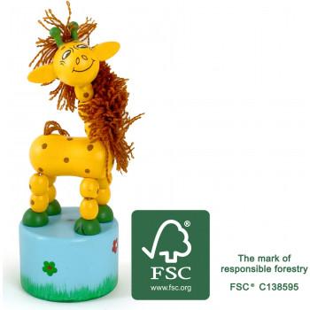 legler small foot Druecktier Giraffe FSC