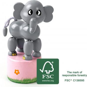 legler small foot Druecktier Elefant FSC
