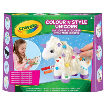 Crayola Colour n Style Unicorn Craft Kit with Washable Felt Tip Colouring Pens