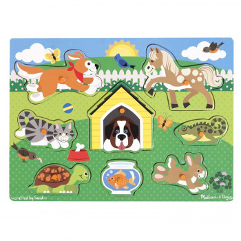 Melissa Doug Pets Wooden Peg Puzzle  pcs