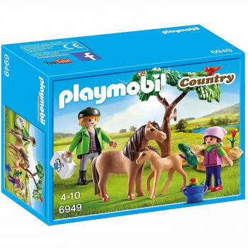Playmobil  Country Vet with Pony and Foal