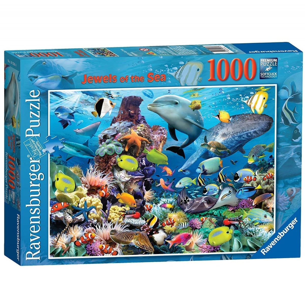 Ravensburger Jewels of the Sea  Piece Jigsaw Puzzle