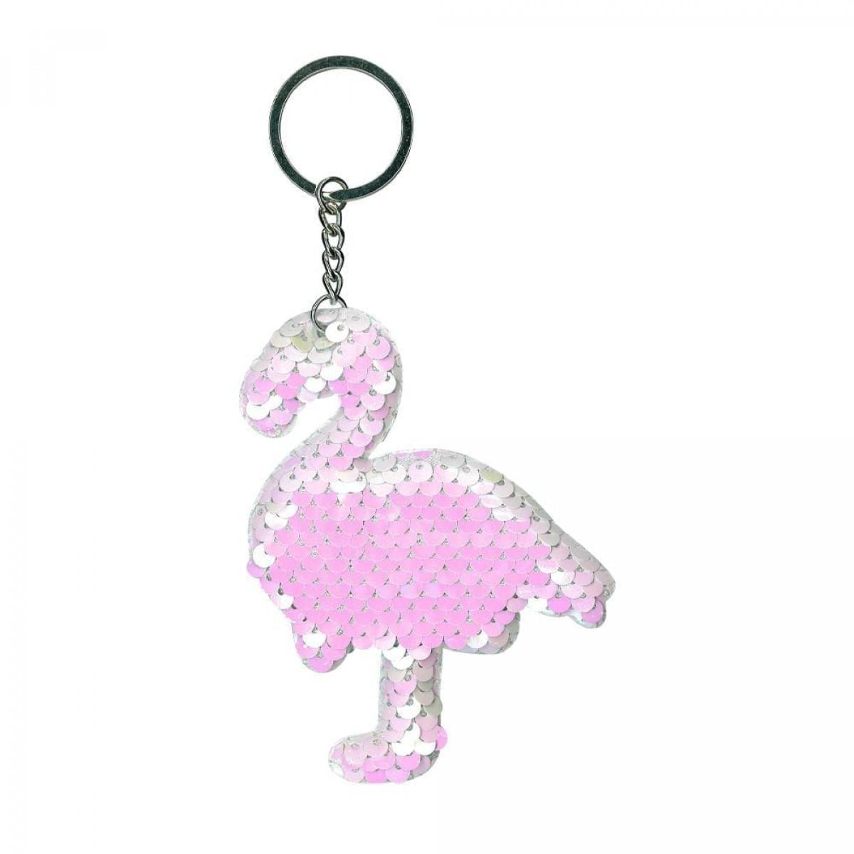 Sequin Sequin Flamingo Keyring