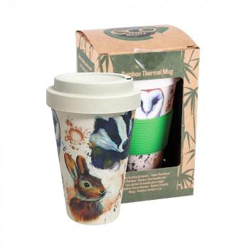 Wildlife Bamboo Travel Mug