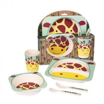 Giraffe Bamboo Dinner Set
