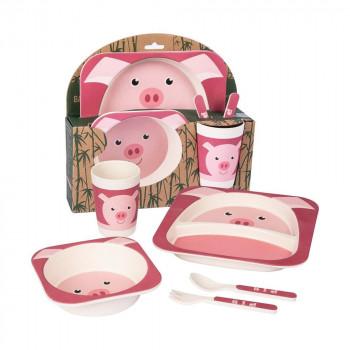 Pig Bamboo Dinner Set