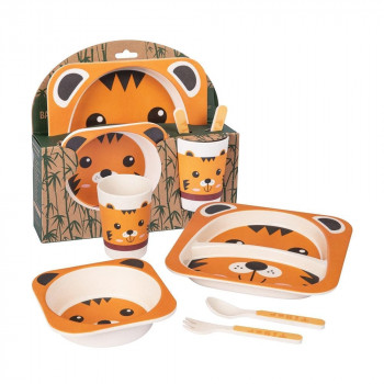 Tiger Bamboo Dinner Set