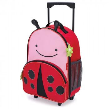 zoo kids rolling luggage ladybug