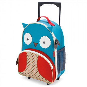 zoo kids rolling luggage owl