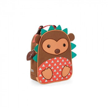 skiphop zoo lunchie insulated kids lunchbag hedgehog